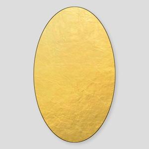 Gold Foil Effect Sticker (Oval)