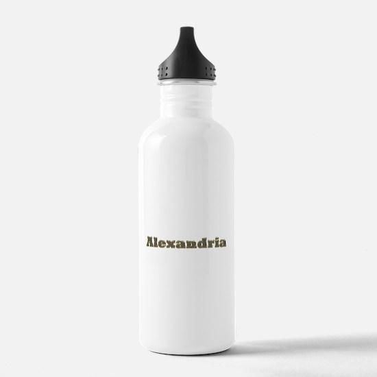 Alexandria Gold Diamond Bling Water Bottle