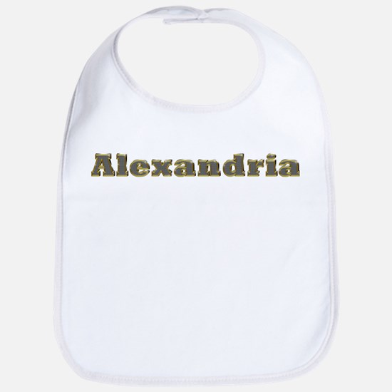 Alexandria Gold Diamond Bling Bib