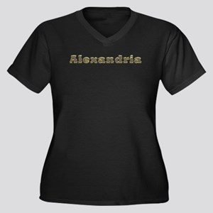 Alexandria Gold Diamond Bling Plus Size T-Shirt