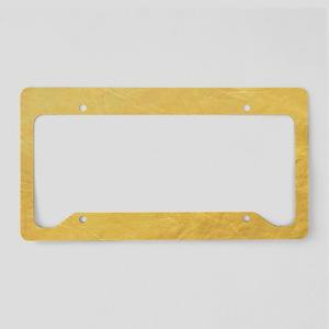 Gold Foil Effect License Plate Holder