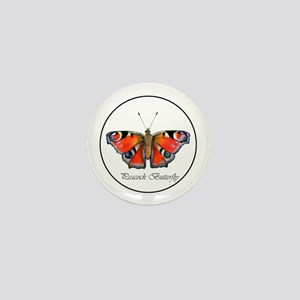 Peacock Butterfly Painting Mini Button