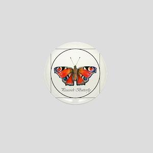 Peacock Butterfly Portrait Mini Button