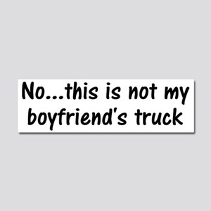 Boyfriend's Truck Car Magnet 10 X 3