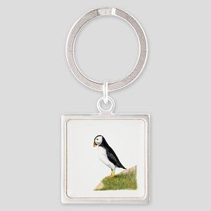 Puffin Bird Painting Art Keychains