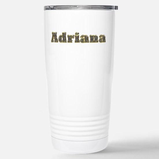 Adriana Gold Diamond Bling Ceramic Travel Mug