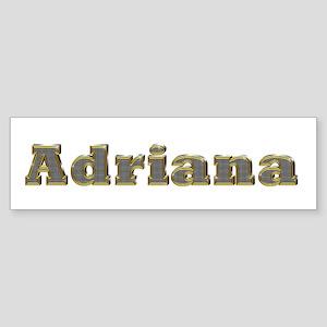 Adriana Gold Diamond Bling Bumper Sticker