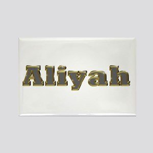Aliyah Gold Diamond Bling Rectangle Magnet