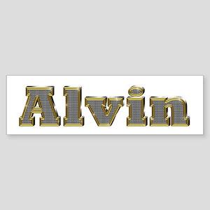 Alvin Gold Diamond Bling Bumper Sticker