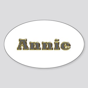 Annie Gold Diamond Bling Oval Sticker
