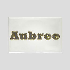 Aubree Gold Diamond Bling Rectangle Magnet