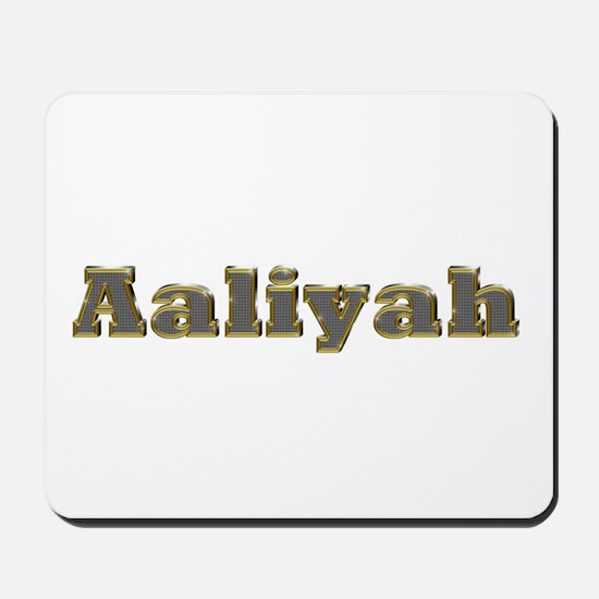 Aaliyah Gold Diamond Bling Mousepad