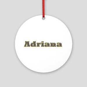 Adriana Gold Diamond Bling Round Ornament