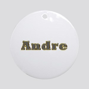 Andre Gold Diamond Bling Round Ornament