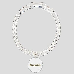 Annie Gold Diamond Bling Charm Bracelet