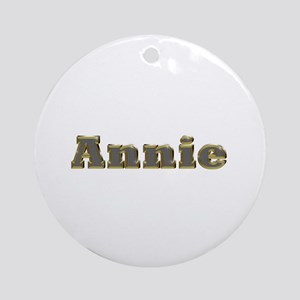 Annie Gold Diamond Bling Round Ornament