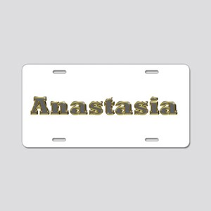 Anastasia Gold Diamond Bling Aluminum License Plat