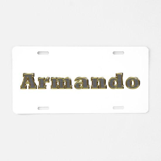 Armando Gold Diamond Bling Aluminum License Plate