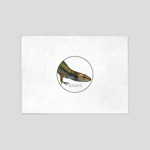 Common Viviparous Lizard 5'x7'Area Rug