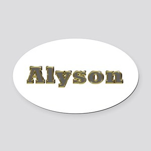 Alyson Gold Diamond Bling Oval Car Magnet
