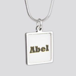 Abel Gold Diamond Bling Silver Square Necklace