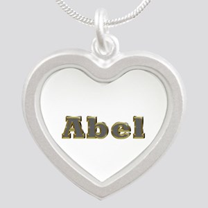 Abel Gold Diamond Bling Silver Heart Necklace