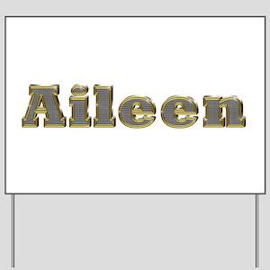 Aileen Gold Diamond Bling Yard Sign