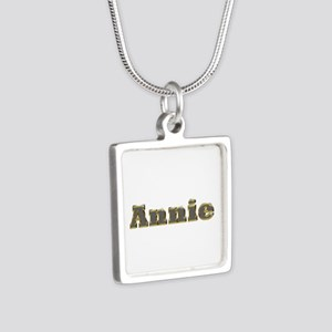 Annie Gold Diamond Bling Silver Square Necklace