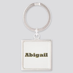 Abigail Gold Diamond Bling Square Keychain