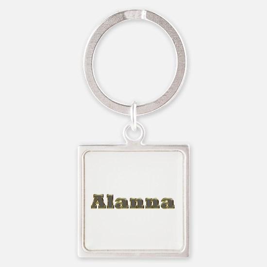 Alanna Gold Diamond Bling Square Keychain