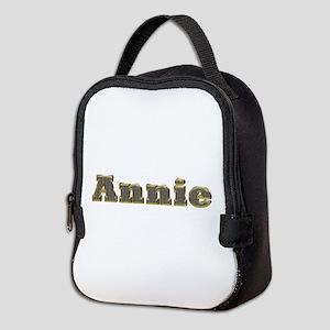 Annie Gold Diamond Bling Neoprene Lunch Bag