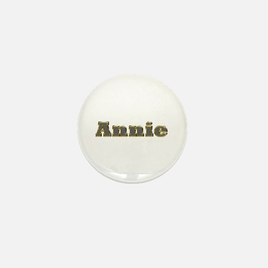 Annie Gold Diamond Bling Mini Button