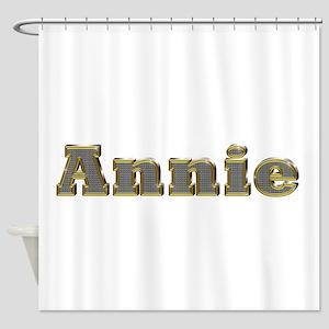 Annie Gold Diamond Bling Shower Curtain