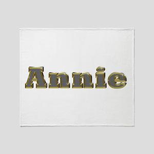 Annie Gold Diamond Bling Throw Blanket