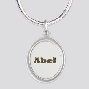 Abel Gold Diamond Bling Silver Oval Necklace