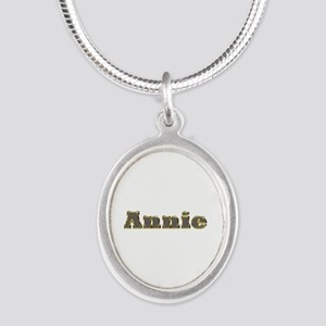 Annie Gold Diamond Bling Silver Oval Necklace