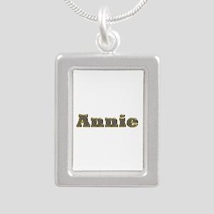 Annie Gold Diamond Bling Silver Portrait Necklace