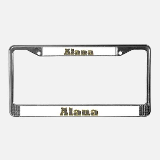Alana Gold Diamond Bling License Plate Frame