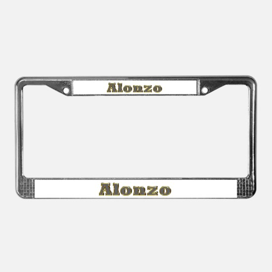 Alonzo Gold Diamond Bling License Plate Frame