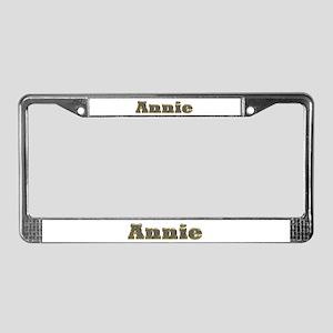 Annie Gold Diamond Bling License Plate Frame