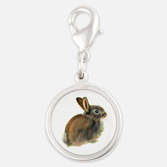Baby Rabbit Portrait in Pastels Charms