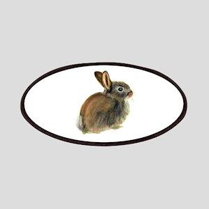 Baby Rabbit Portrait in Pastels Patch