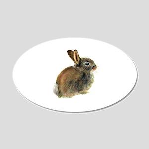 Baby Rabbit Portrait in Pastels Wall Sticker