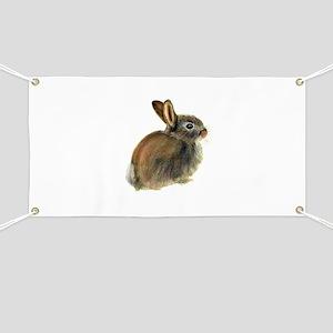 Baby Rabbit Portrait in Pastels Banner