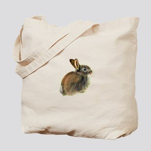 Baby Rabbit Portrait in Pastels Tote Bag