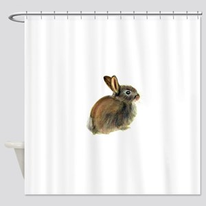 Baby Rabbit Portrait in Pastels Shower Curtain