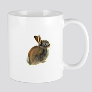 Baby Rabbit Portrait in Pastels Mugs