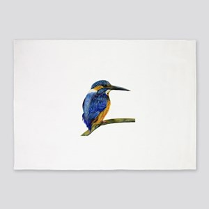 Kingfisher Bird Portrait 5'x7'Area Rug