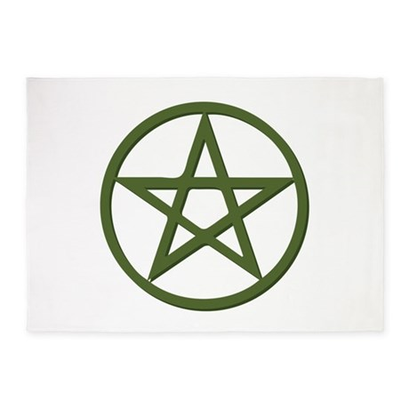 Pentagram 5 X7 Area Rug By Annthegran2