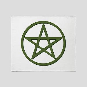 Pentagram Throw Blanket